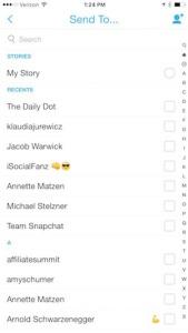 mensajes snapchat