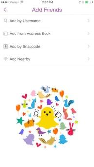 opciones para agregar amigos snapchat