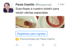 campaña en twitter