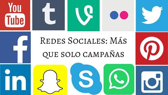 Redes Sociales: Más que solocampañas