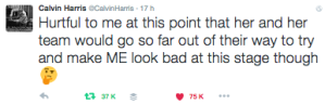 calvin harris twitter vs taylor