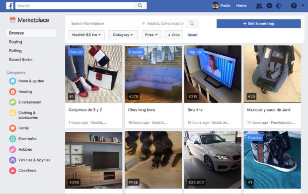 tiendas de facebook